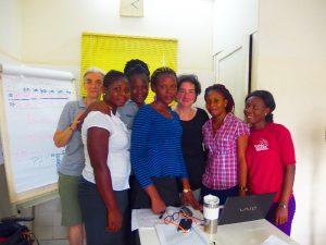 Het team samen met de coördinatrice, onze chef-arts en een deskundige van TNO
